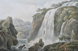 Cascade de Tivoli watercolor 18th century - appleboutique-com