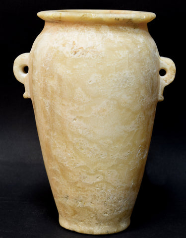 A LARGE EGYPTIAN ALABASTER JAR ROMAN PERIOD