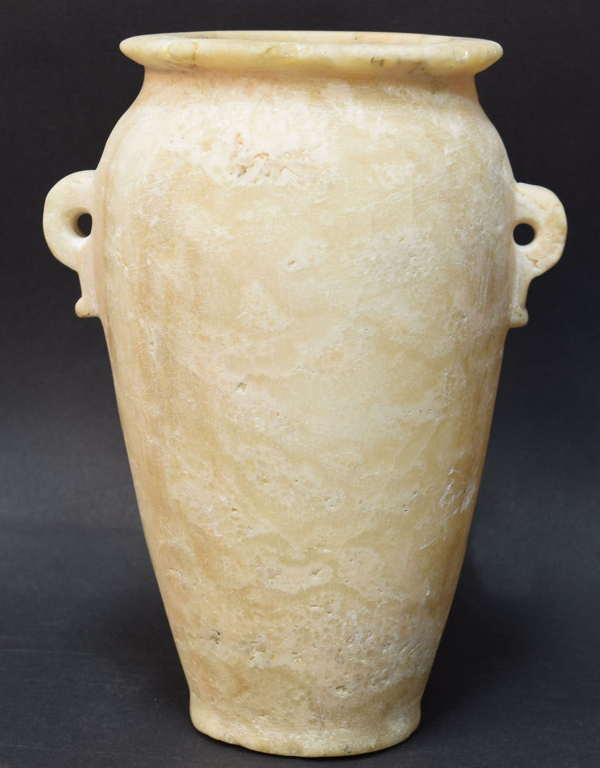 LARGE EGYPTIAN ALABASTER JAR ROMAN PERIOD - Apple Boutique