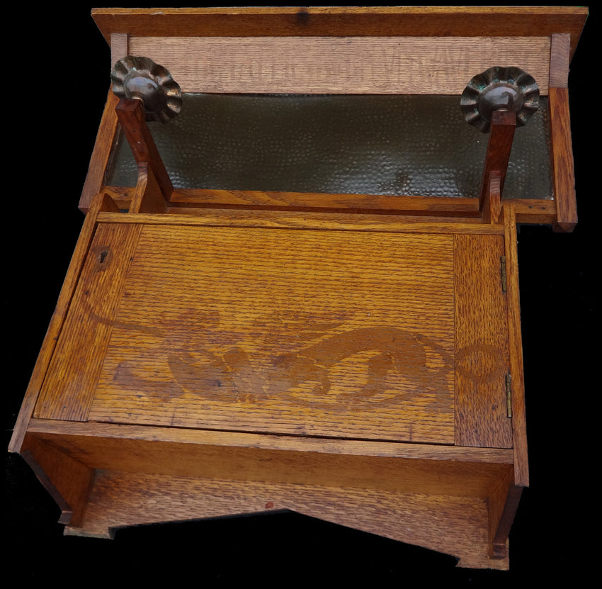 Lord Alfred Tennyson – Oak Arts & Crafts cupboard