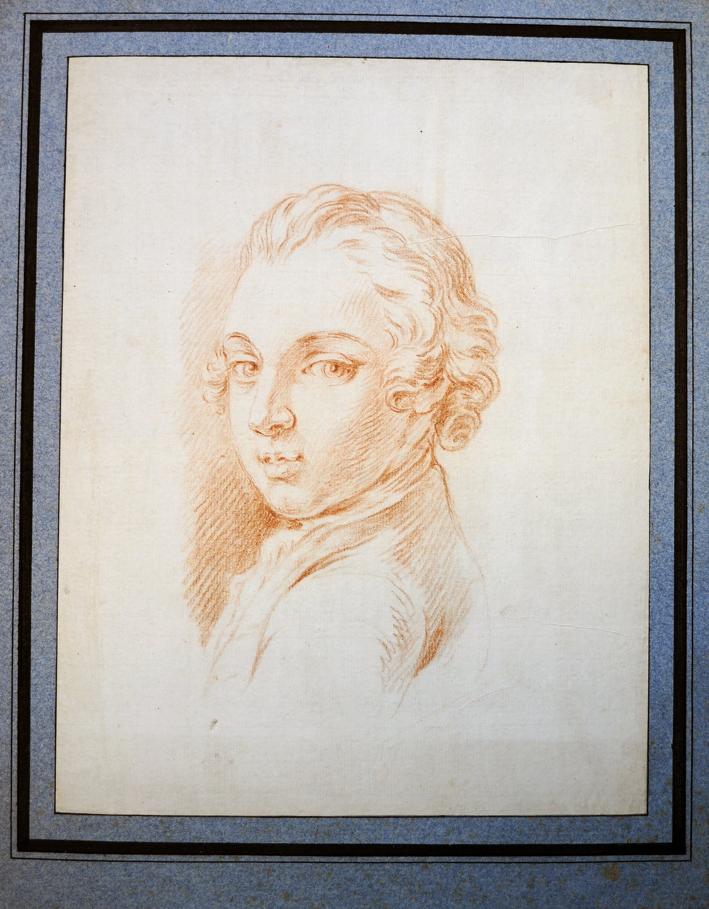 Old Master Drawing Portrait of a young man - appleboutique-com