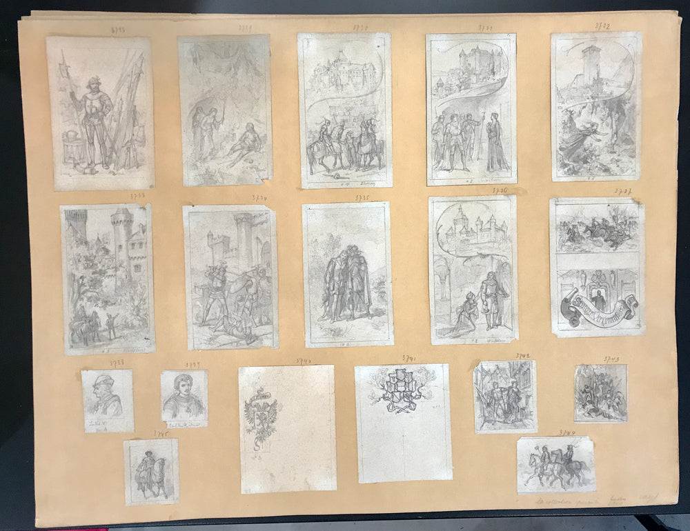 Henri van Muyden 58 Illustration Project Drawings and Washes.