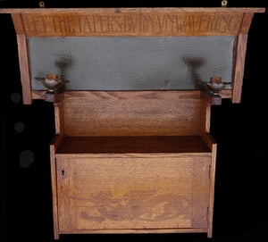 Lord Alfred Tennyson – Oak Arts & Crafts cupboard - appleboutique-com