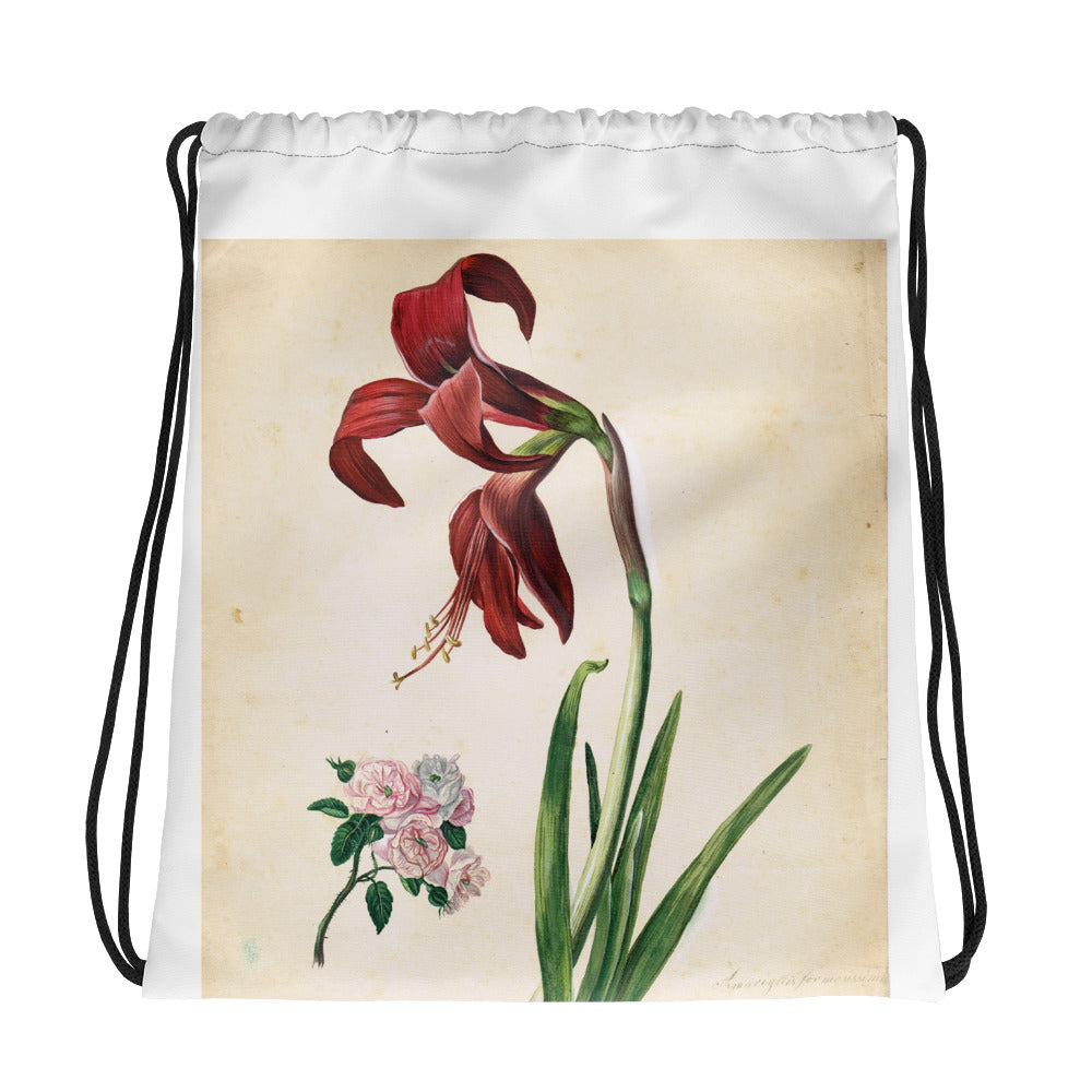 Drawstring bag Amaryllis