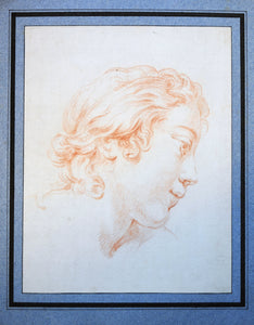 red chalk old master drawing ephebe