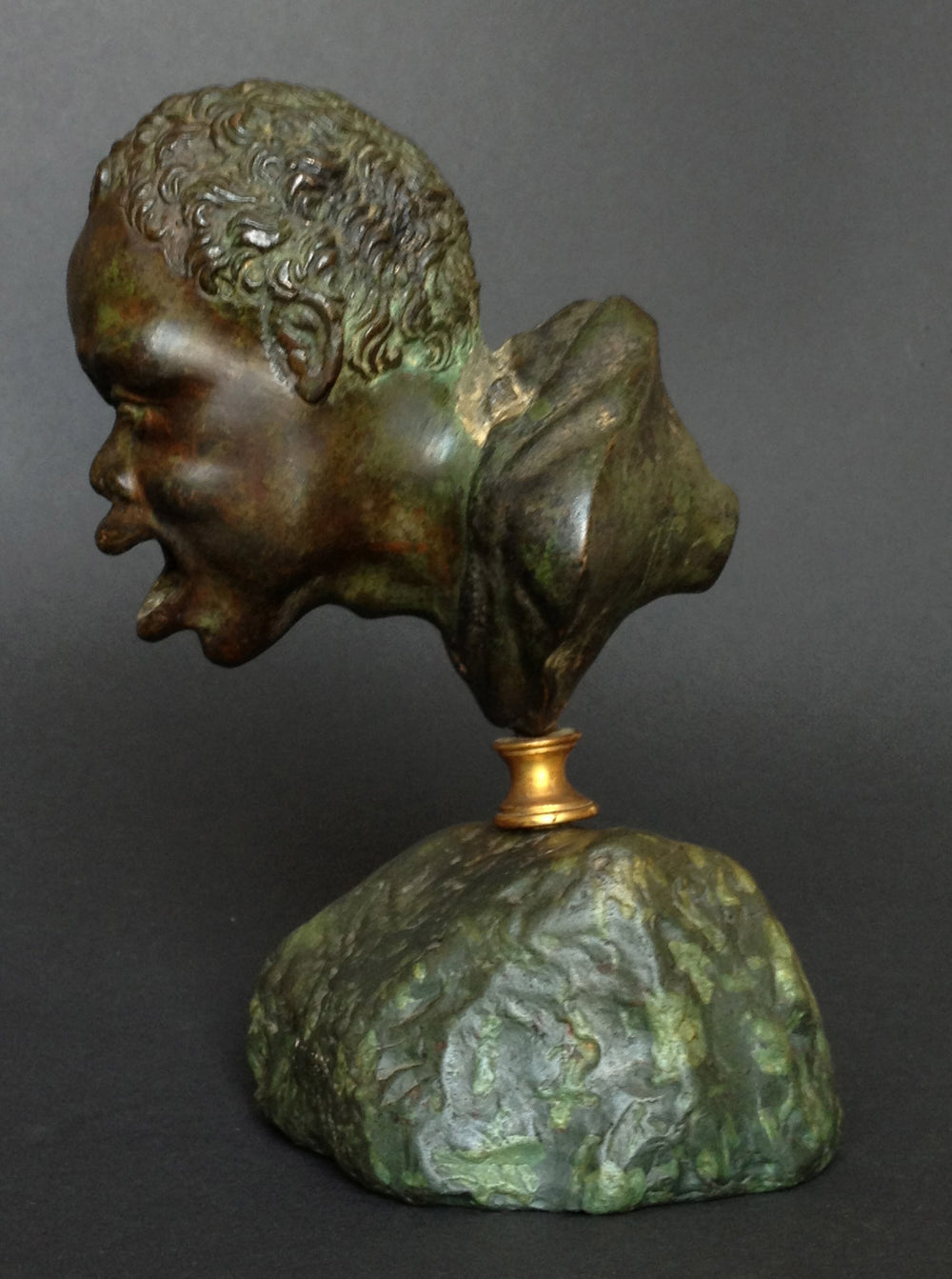 A Renaissance after a Roman Bronze Oil Lamp Head of a Nubian - appleboutique-com