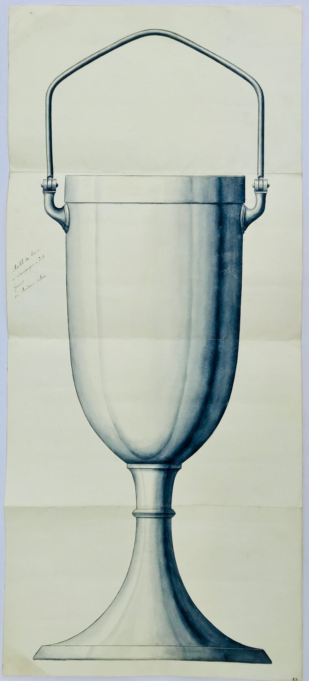 Drawing Project of a Champagne bucket for the Montreux Palace