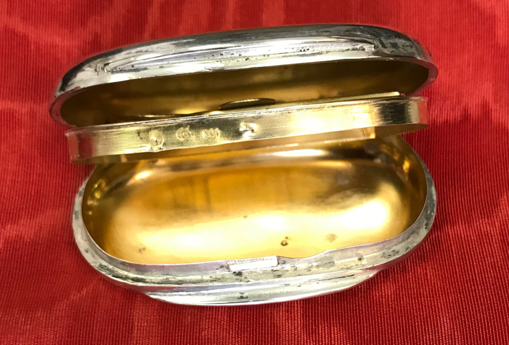 Antique cocaine silver snuff box with spoon - appleboutique-com