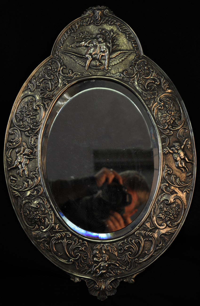 Silver Mirror with putti