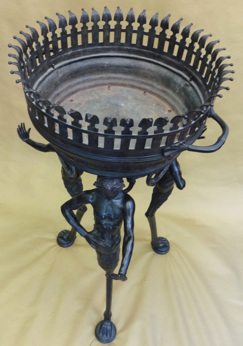 Ancient ITALIAN BRONZE JARDINIERE AFTER THE ANTIQUE, BY SABATINO DE ANGELIS & FILS
