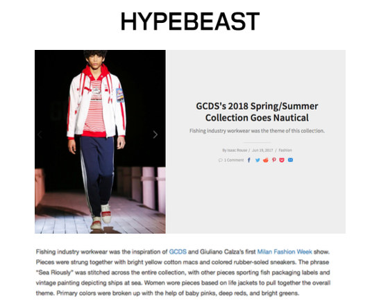 GCDS's 2018 Spring/Summer Collection Goes Nautical