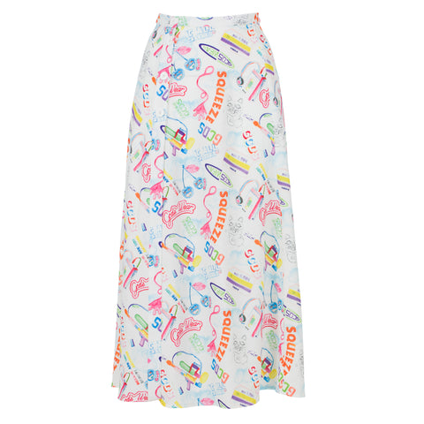 WATERCOLOR LONG SKIRT
