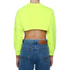 CROP FADED FLUO CREWNECK