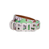 Monster print logo belt