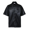 LOGO LEATHER SHIRT