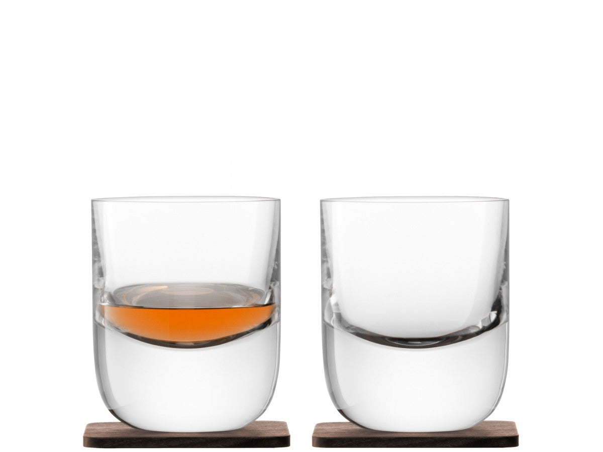 Renfrew Tumblers w Walnut Coaster