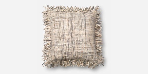 Crosshatch Shag Pillow