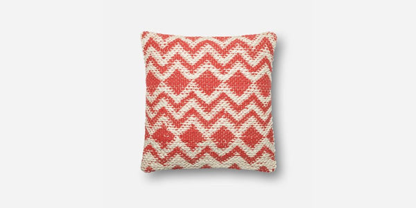 Coral Zig Pillow