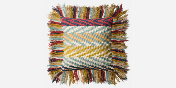 Chindi Fringe Pillow