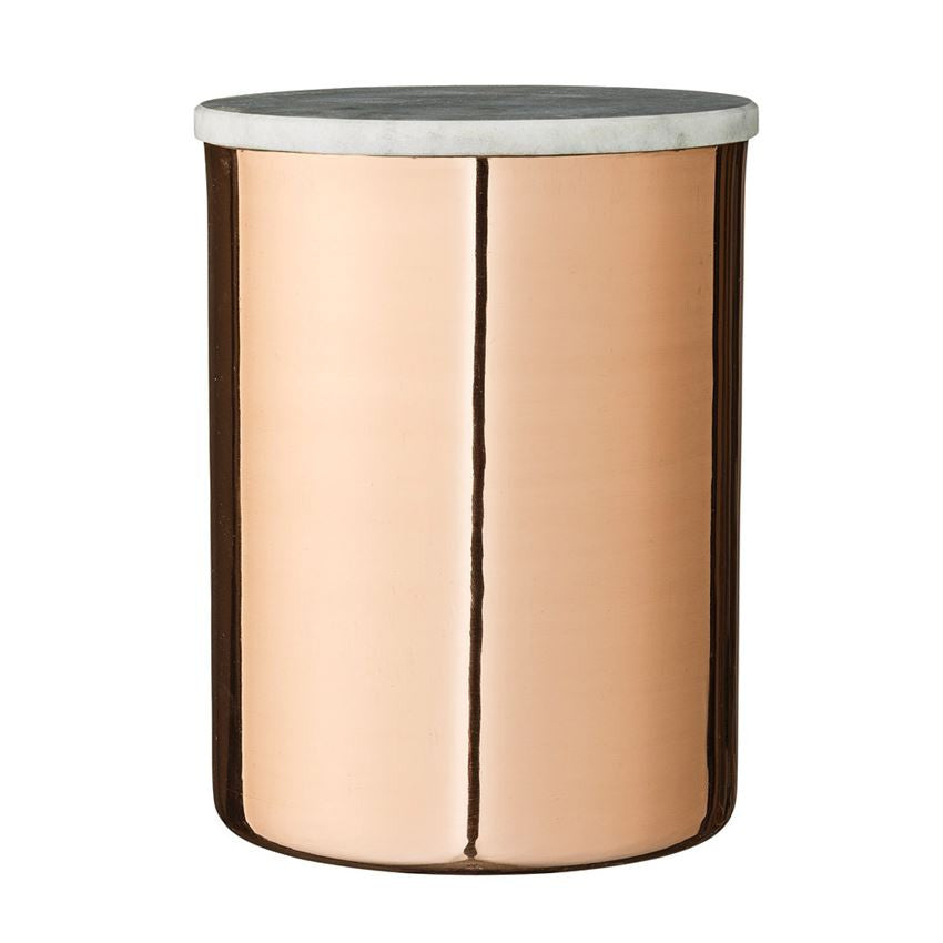 Copper Canister w Marble Lid