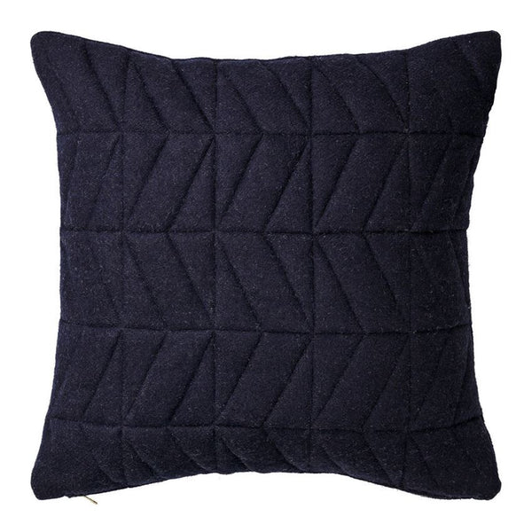 Geometric Stitch Navy Pillow