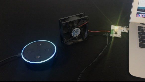 Alexa controlled fan with XinaBox, coded on ESP8266 with Arduino IDE