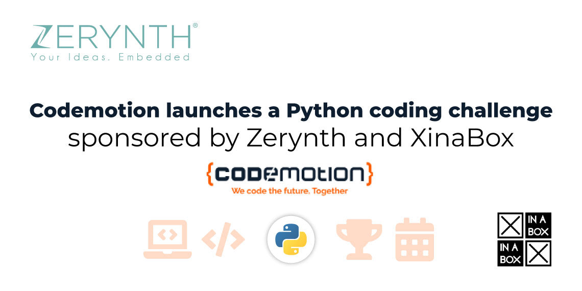Try the Codemotion Python coding challenge - sponsored by Zerynth and XinaBox