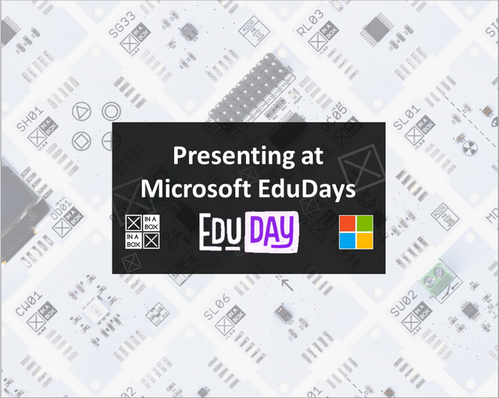 XinaBox presenting at Microsoft EduDays