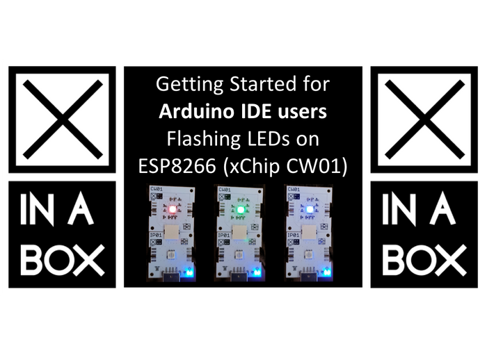 Getting started for Arduino IDE users - Programming CW01 (ESP8266) to flash the LED