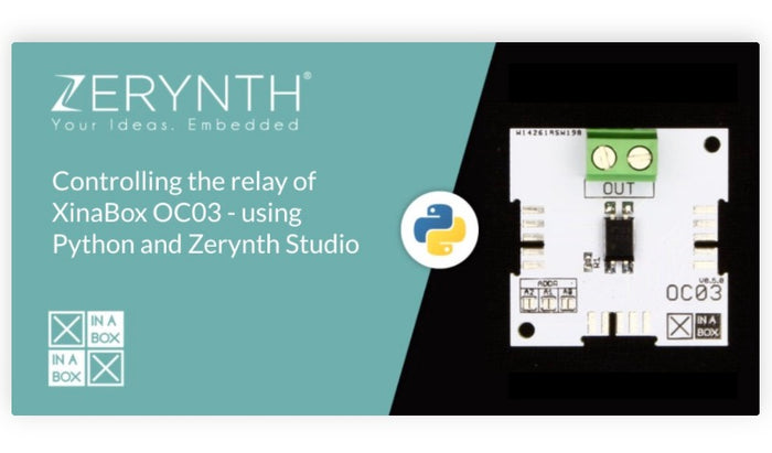 Controlling a solid state relay (OC03) with Python and Zerynth Studio