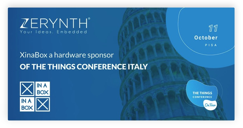 XinaBox kits at The Things Conference Italy – explore LoRaWAN and Python with Zerynth