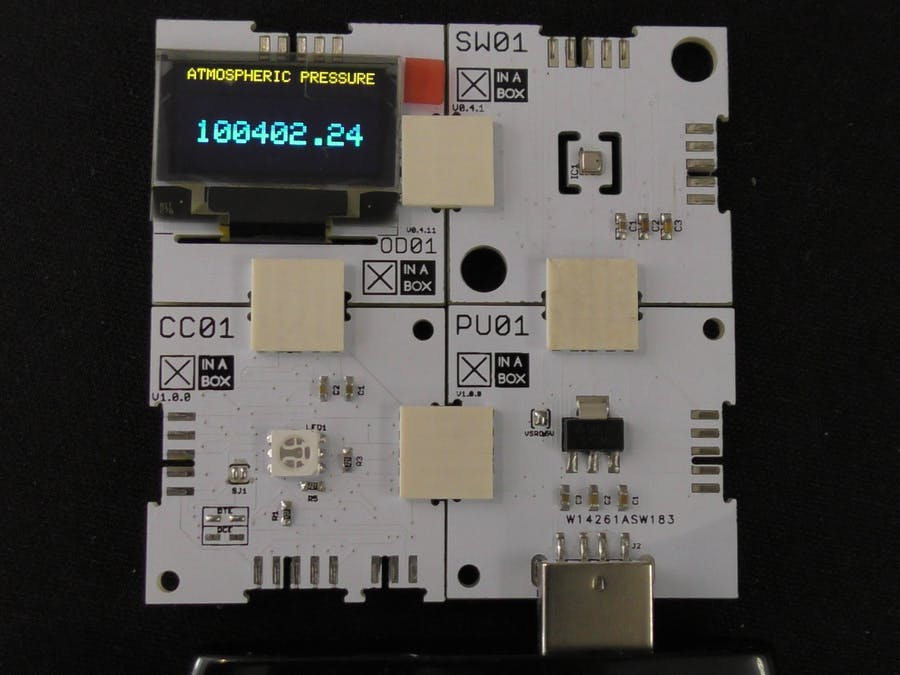 Atmospheric Pressure Measurement using XinaBox xChips