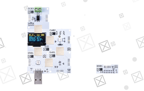 One way of assembling the XK19 IoT Starter kit from XinaBox