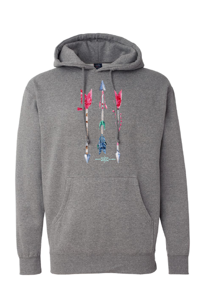 Unisex BE Watercolor Arrows Hoodie