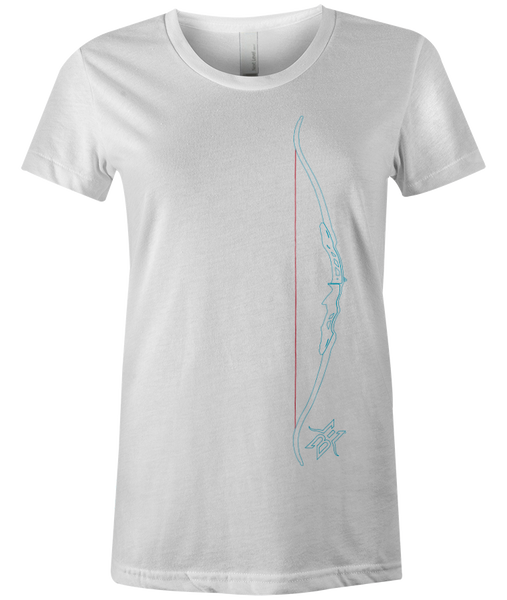 Women's BE Recurve Bow Outline Tee