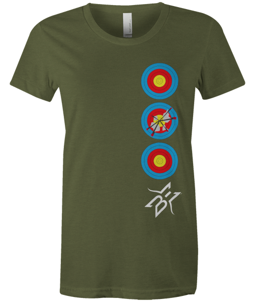 Women's BE Stacked Targets Tee