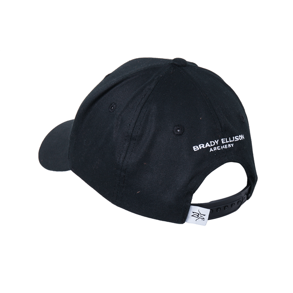 White Embroidered Hat - Black