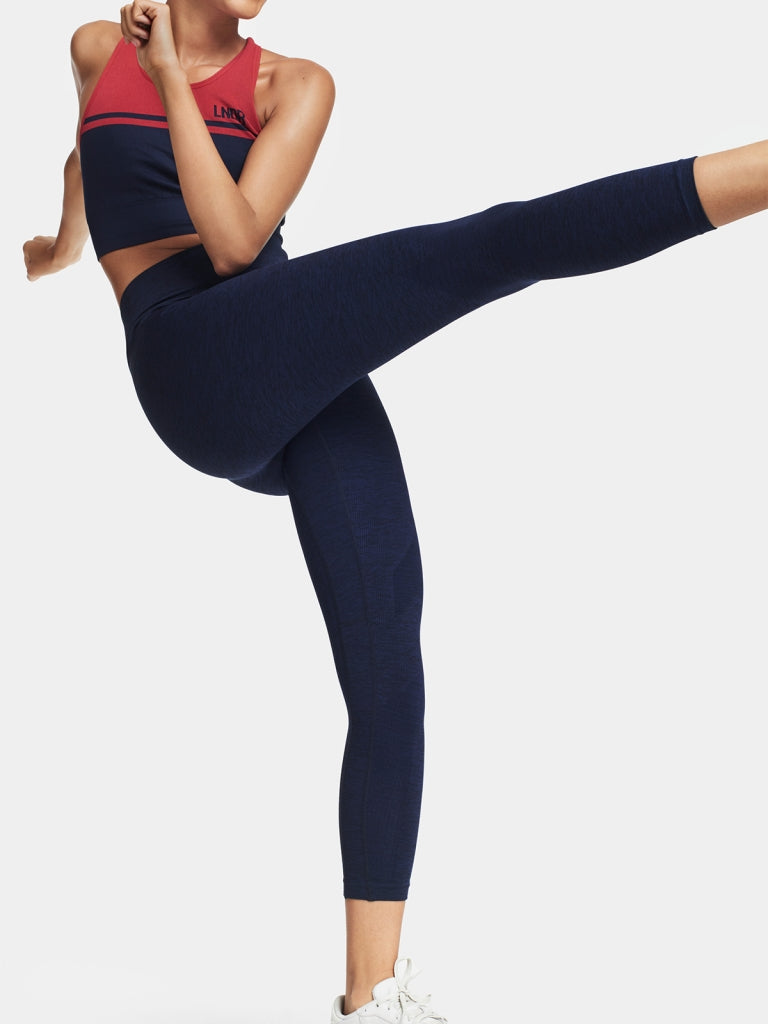 SIX EIGHT Leggings / Navy Marl