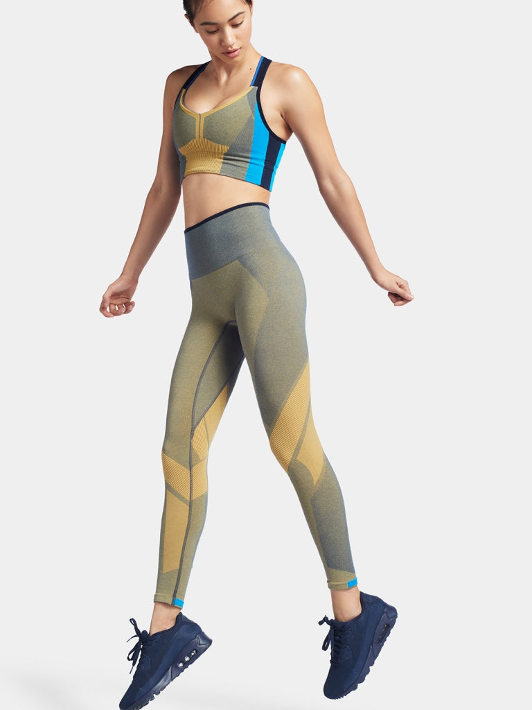 MOTION Leggings / Blue mustard