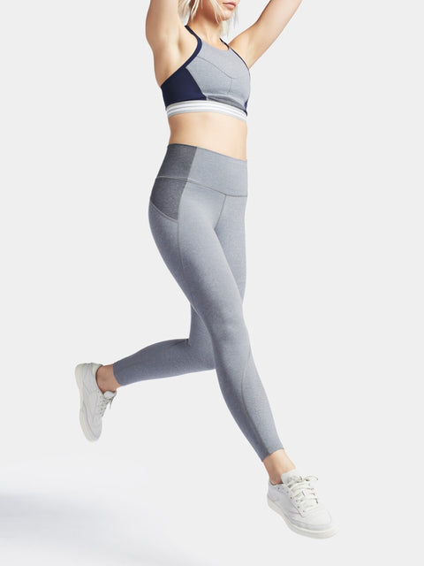 CONTOUR 7/8 Leggings / Light Grey Marl