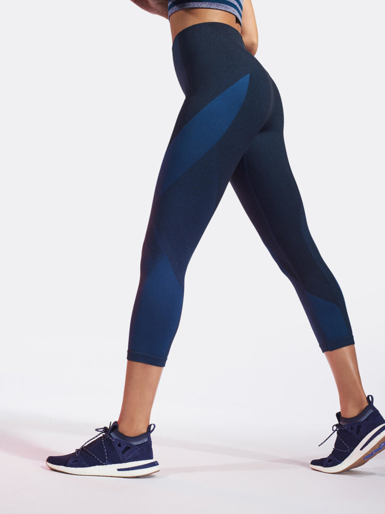 LAUNCH Crop Legging / Teal