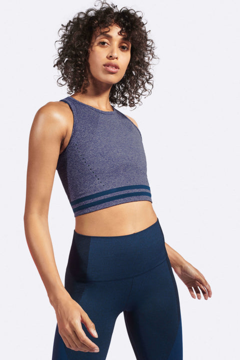 RADAR Crop Top / Light Blue Marl