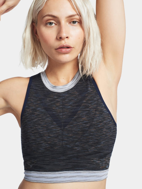SPACE Crop Top / Dark Grey Marl
