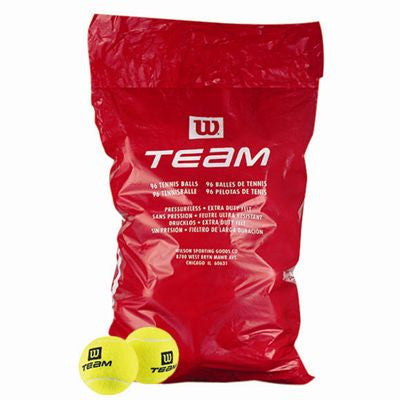 Wilson Team W Trainer Tennis Balls - 96 Bag