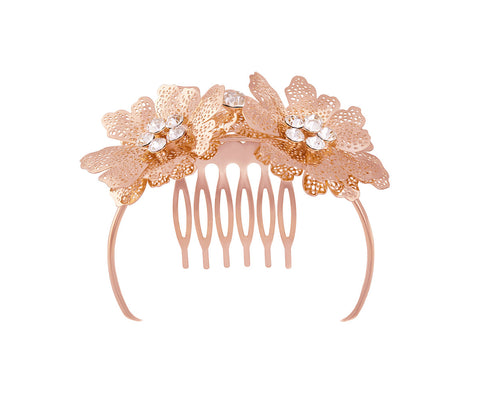 Gold Flower Hair Rim