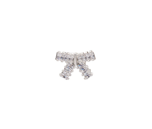 Crystal Ribbon Brooch
