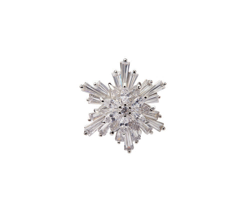 Metal Snowflake Brooch