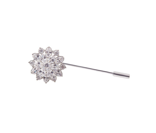 Metal Flower Pin Brooch