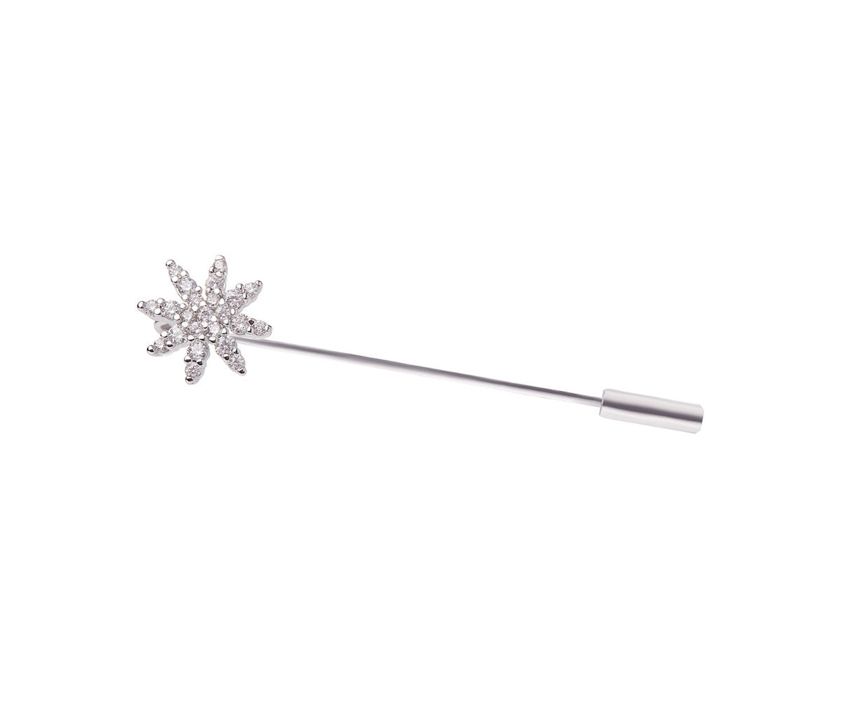 Metal Snowflake Pin Brooch