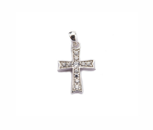 Silver Thick Cross Pendant